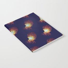 Blue Nautilus pattern Notebook