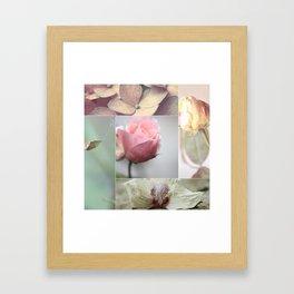 pastell flower collage1 Framed Art Print