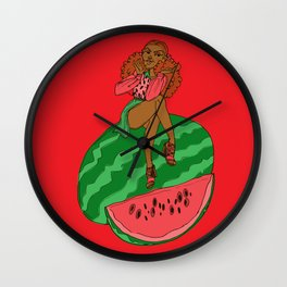 Ms Watermelon Wall Clock