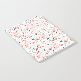 Terrazzo in pink and blue Notebook