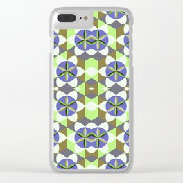 FLOWER OF LIFE GEOMETRIC PATTERN Clear iPhone Case