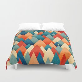 070 – deep into the autumn forest texture I Duvet Cover