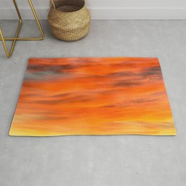 Sun and Clouds, North Wales UK Rug