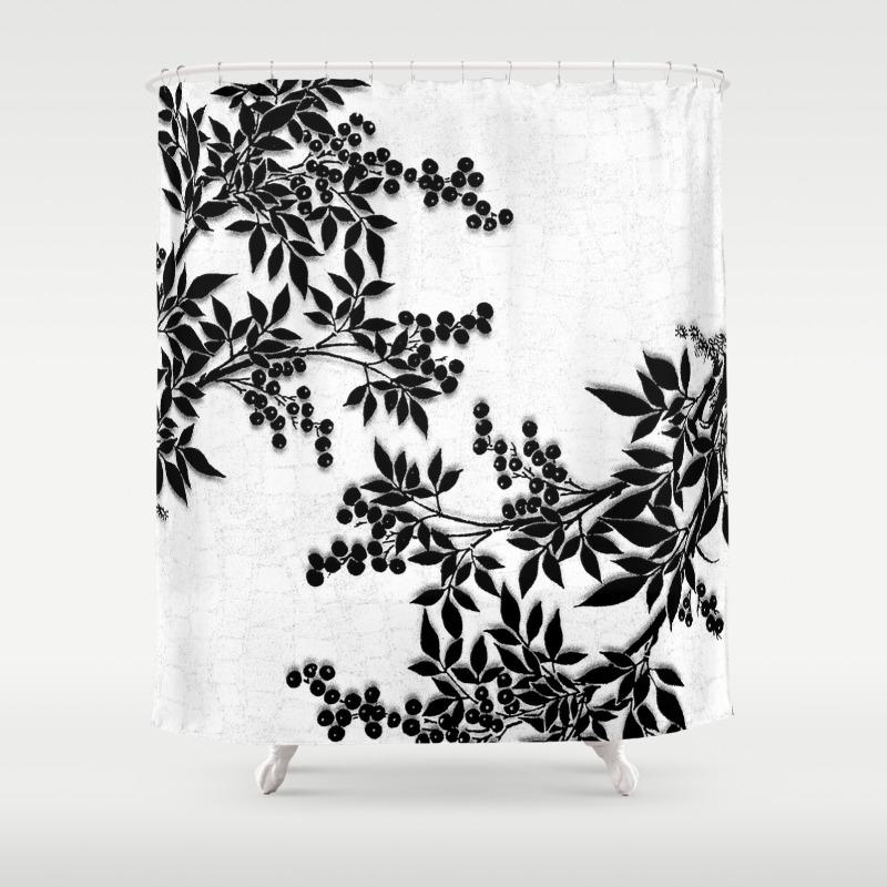 Black Toile Shower Curtain - Mobroi.com