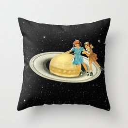 Stroll on Saturn Throw Pillow