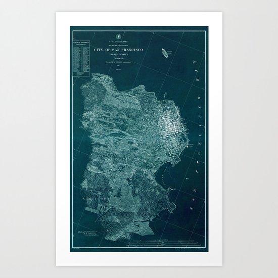 Map Of San Francisco 1857 by lydiadavid