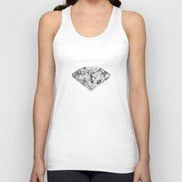 diamond Tank Tops featuring Diamond by Linnette Vazquez