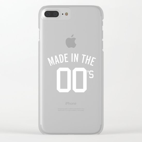 Made In The 00's Quote Clear iPhone Case