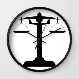 weight scale Wall Clock