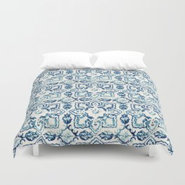 Azulejo IV - Portuguese hand painted tiles Duvet Cover