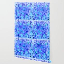 Blue Frost Cannabis Swirl Wallpaper