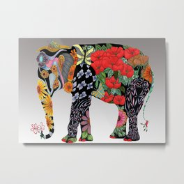 Ms. Ele Phant Metal Print