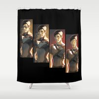 dick Shower Curtains featuring Dick Grayson by Justyna Rerak