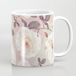 seamless   pattern of watercolor roses . Endless texture Coffee Mug