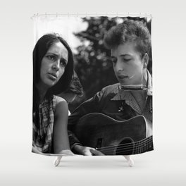 Bob Dylan and Joan Baez at the March on Washington, 1963 Shower Curtain