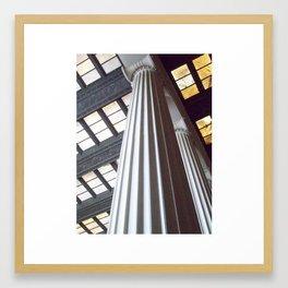 Lincoln Memorial Columns Framed Art Print