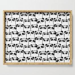 Cute Black & White Panda Pattern Serving Tray