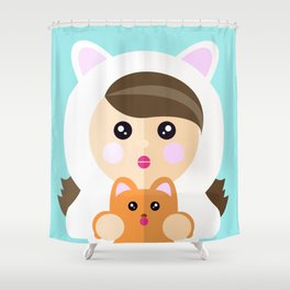I'm a ladycat Shower Curtain