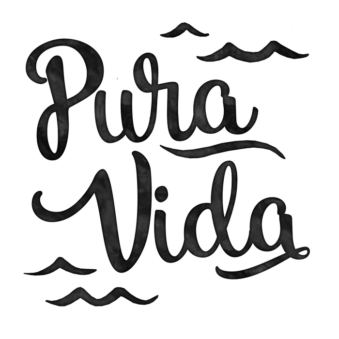 Pura Vida Costa Rica Waves in Black Comforters