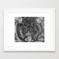 rat Framed Art Prints featuring Rat by Natasha Maiklem