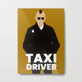 Taxi Driver 70s movie Metal Print