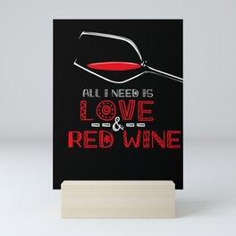 Valentines Day Love and Red Wine Mini Art Print