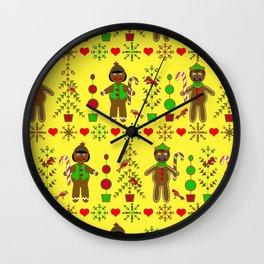 Gingerbread Children Wall Clock