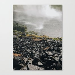 waterfall rocks Canvas Print