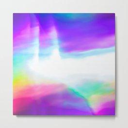 Rainbow neon Metal Print