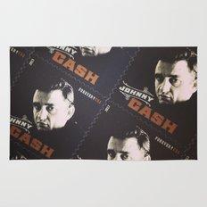 Johnny Cash Stamps Rug