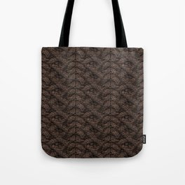 Brown Haka Cable Knit Tote Bag