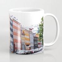 copenhagen Mugs featuring Copenhagen by Anya Kubilus