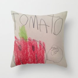 Tomato Speaks Throw Pillow