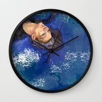 clear Wall Clocks featuring CLEAR by Dash of noir