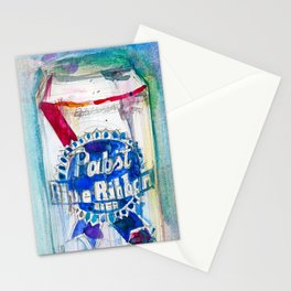 Pabst Blue Ribbon Beer Stationery Cards