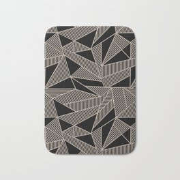 Geometric Abstract Origami Inspired Pattern Bath Mat