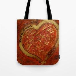 forgiveness &peace Tote Bag