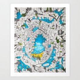 Velvet Chaos Art Print