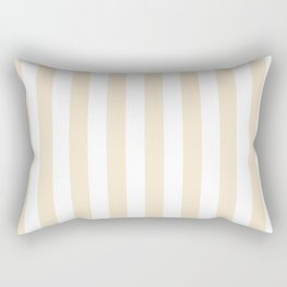 Narrow Vertical Stripes - White and Champagne Orange Rectangular Pillow