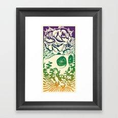 Bad Acid Technicolor Framed Art Print
