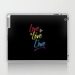 Love is Love is Love Laptop & iPad Skin
