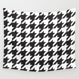 Houndstooth (Black and White) Wall Tapestry