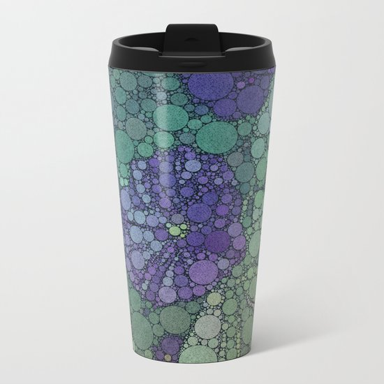 Percolated Purple Potato Flower Metal Travel Mug