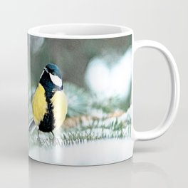 Blue Tit On Spruce Tree Coffee Mug