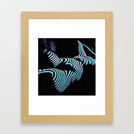 5143s-MAK Zebra Stripe Curves Sensual Female Body Art Framed Art Print