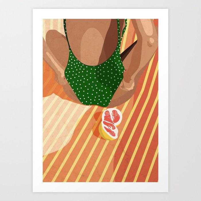 Summer fruits Art Print Art Print