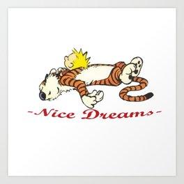 Calvin And Hobbes Sleep Art Print