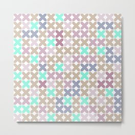 Abstract pattern . To cross-stitch 2 . Metal Print