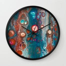 Peacock Colours Wall Clock