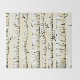 Silver Birch Throw Blanket